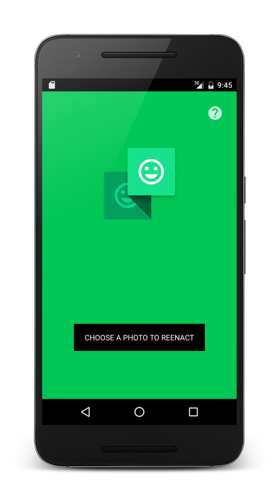 Reenact is an app that makes it easy to reenact photos. Available for Android and iOS.